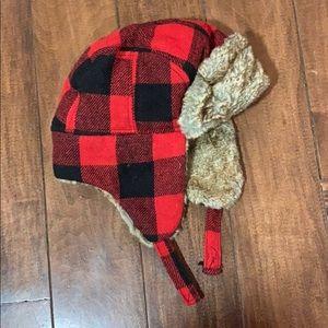 Boys buffalo plaid hat